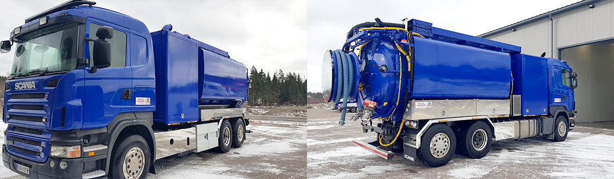 Scania R500 Fico kaksois-pumppu rosteriyhdistelmä